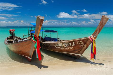 fishing boat sale thailand picture postcard thai boats photograph by sally zeunert