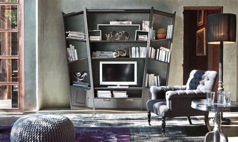 libreria in legno finitura piombo caretta design