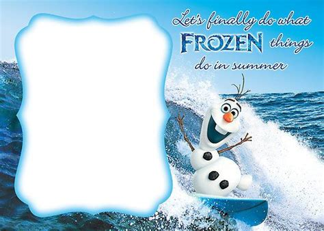 frozen invitation template blank all things frozen
