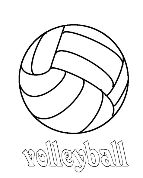 preschool resourcessports volleyball preschool coloring sheet