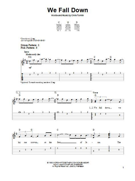 We Fall Down Guitar Chords