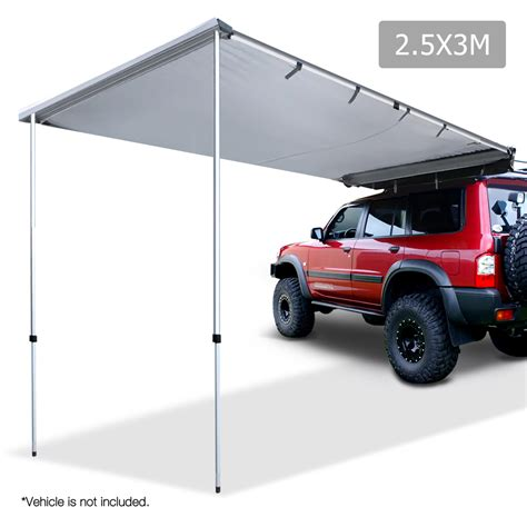 auto awning 2 5x3m car awning grey