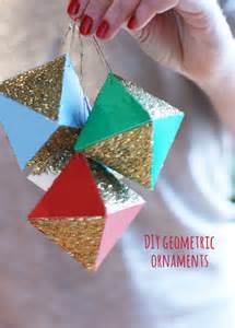 holiday diy geometric paper ornaments the sweet escape