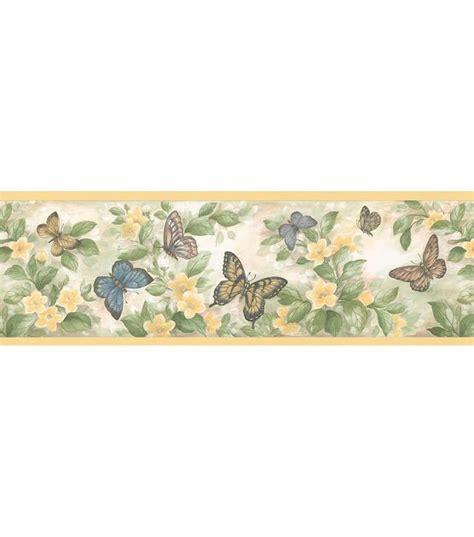 pinterest wallpaper borders butterfly floral border wallpaper border yellow 재료