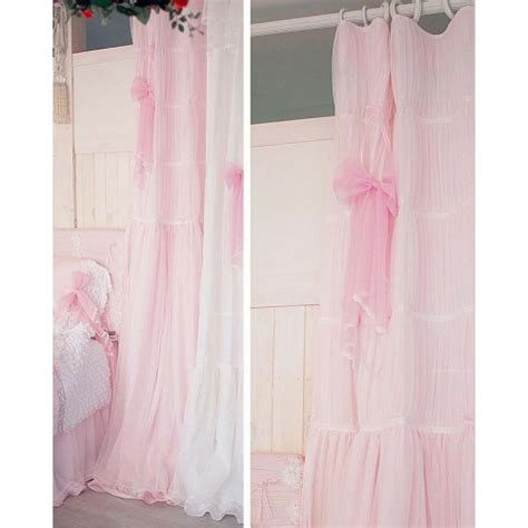 Ruffled Pink Curtains Pink Ruffle Curtain