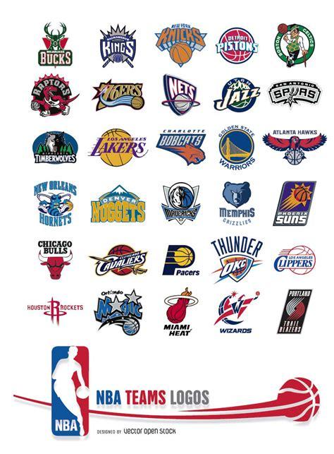 logo nba basketball nba teams logos vector