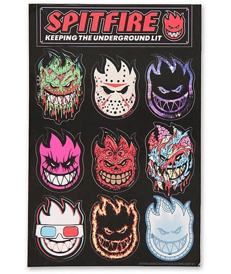 spitfire  ways sticker pack skateboard art skate art