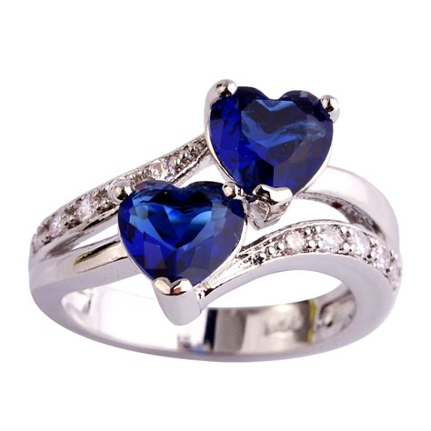 aaa cz fashion lab blue sapphire quartz 18k white gold