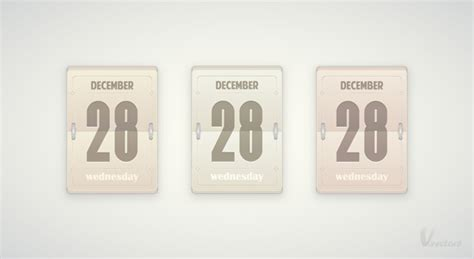 Flip Calendar Create A Vector Daily Flip Calendar