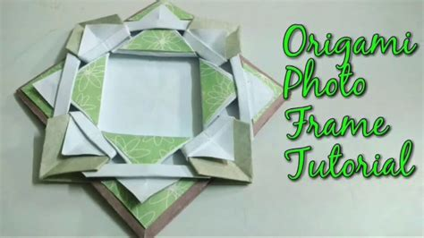 Origami Scrapbook - diy origami photo frame tutorial for scrapbook how to