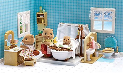 calico critters bathroom set calico critters deluxe bathroom set new ebay