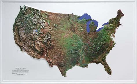 topographic maps of the united states raised relief maps 3d topographic map united states series