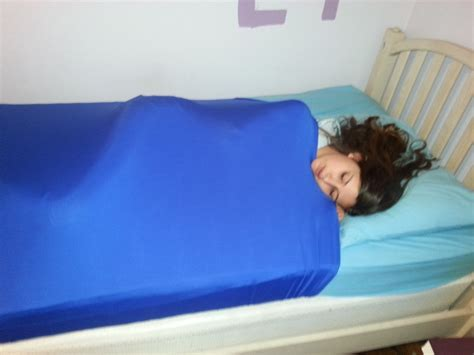 bed and body lycra compression bed sheet skweezers autism sensory