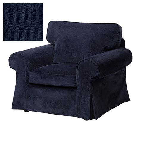 dark blue armchair ikea ektorp armchair slipcover chair cover vellinge dark blue