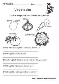 science practice vegetables worksheet activity sheets for