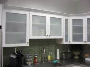 Glass Panels For Kitchen Cabinets White Kitchen Cabinets With Frosted Glass Doors Shayla S