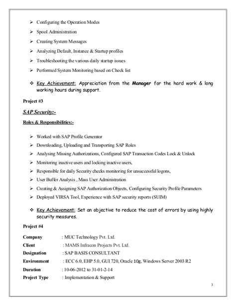 sap basis resume format military bralicious co