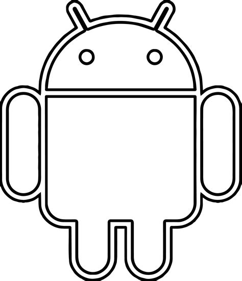 pages android android robot coloring page wecoloringpage