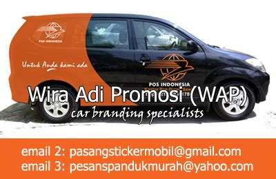 layout kantor pos indonesia sticker branding mobil wiralink