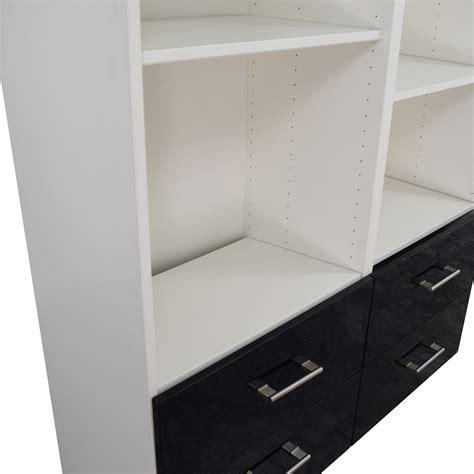 ikea double set of drawers 78 off ikea ikea double shelf and drawer set storage