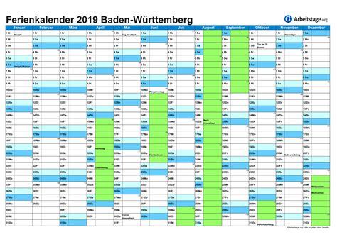 Ferienkalender 2018 Baden W Rttemberg Ferien Baden W 252 Rttemberg 2018 2019 2020 Arbeitstage Org