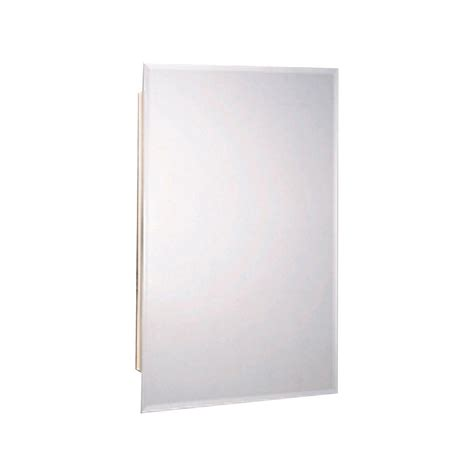 frameless mirrored medicine cabinet recessed glacier bay 16 in w x 26 in h x 4 1 2 in d frameless