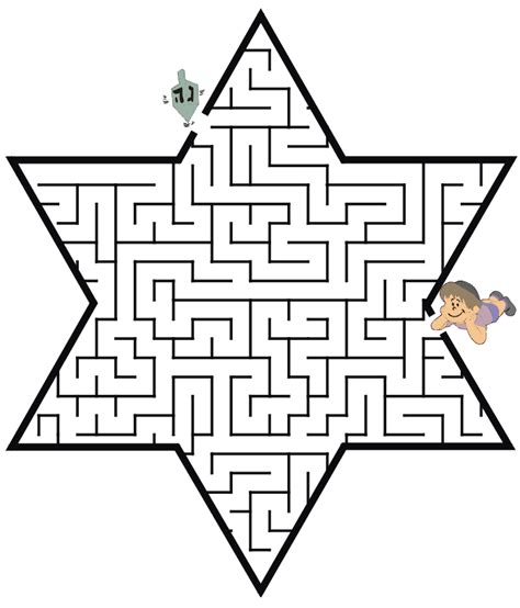 star of david coloring page hanukkah maze star of david shapedreidel coloring pages