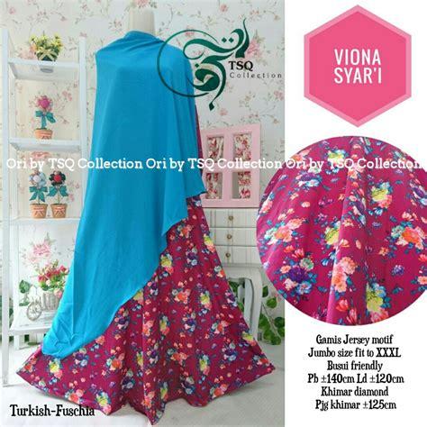 Gamis Murah Gamis Jumbo Makiyya Syari Set Khimar Ori Aiisha Longdress baju gamis jumbo viona syar i busana muslim motif bunga
