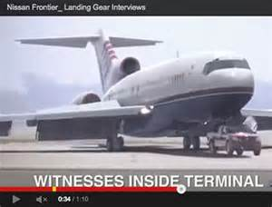 Plane Nissan Frontier Of Plane With Failed Landing Gear Landing On A Small
