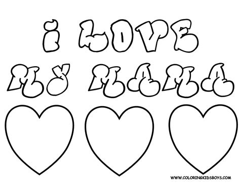 coloring pages for your mom i love you mom coloring pages free large images