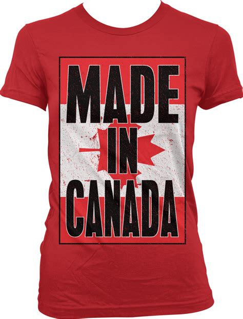 Made In Canada T Shirt - made in canada canadian flag national pride world cup