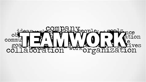 word for teamwork word cloud picture for powerpoint slidemodel