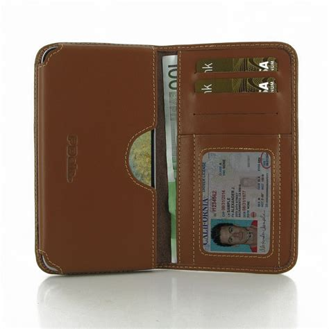 Custom Samsung E7 samsung galaxy e7 leather wallet sleeve brown
