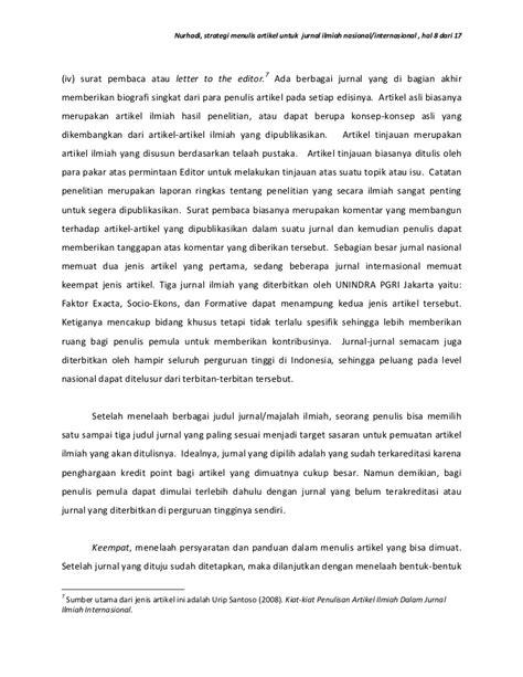 membuat artikel original strategi menulis artikel untuk jurnal ilmiah nasional