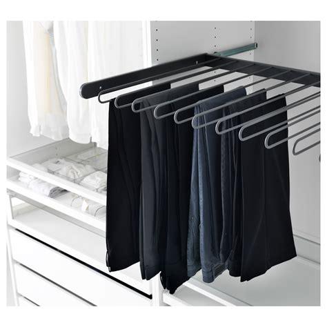 ikea wardrobe hanger komplement pull out trouser hanger grey 100x58 cm ikea