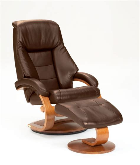 euro chair with ottoman euro recliner and ottoman in espresso leather model 58