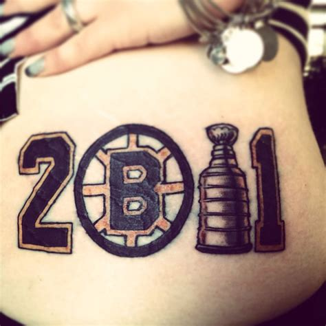 bruins tattoo custom bruins stanley cup tattoos piercings