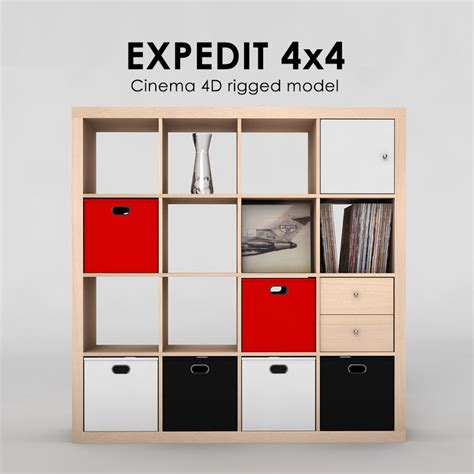 Ikea Expedit 4x4 by 3ds Ikea Expedit 4x4