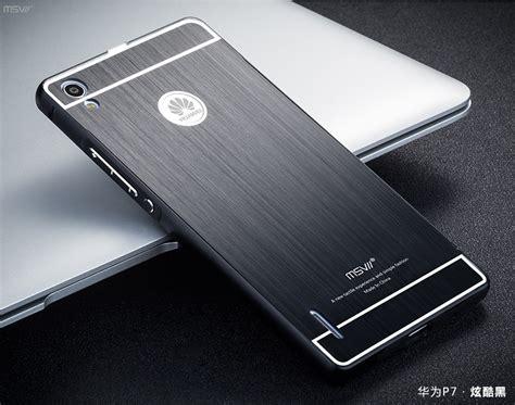 Huawei 2i Aluminium Metal Bumper Brushed Cover Casing msvii brand huawei ascend p7 metal brushed pc back cover 2 5d arc aluminum frame phone
