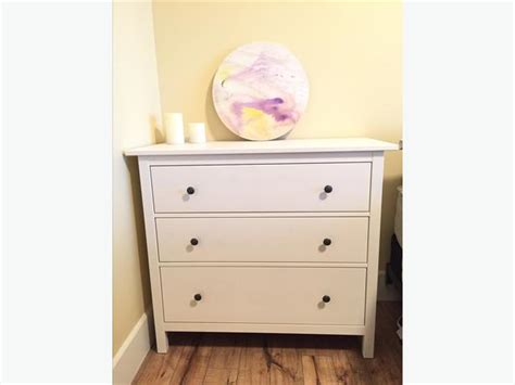 White 3 Drawer Dresser by Ikea 3 Drawer Dresser Hemnes White Mill Bay Cowichan