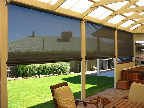 outdoor roller shades for porch window treatments design