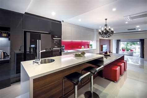 kitchen island designs  fit  singapore homes