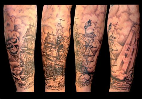 pirate ship tattoo by asussman on deviantart