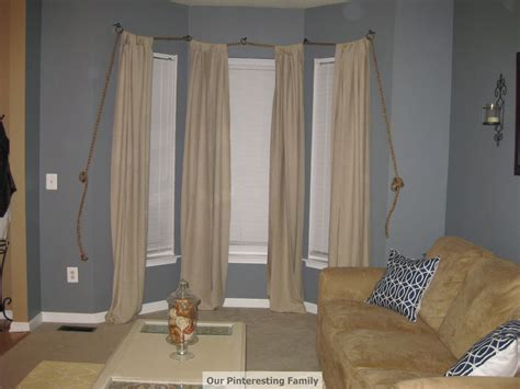 rope curtain rod our pinteresting family nautical rope curtain rod re post