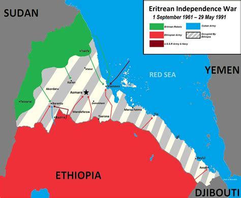 eritrea map eritrean war of independence