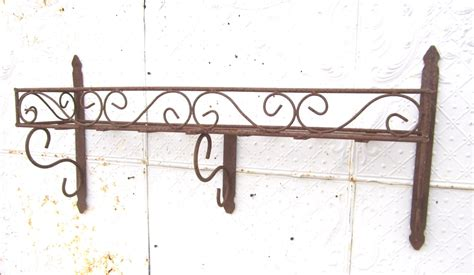 wrought iron curly shelf