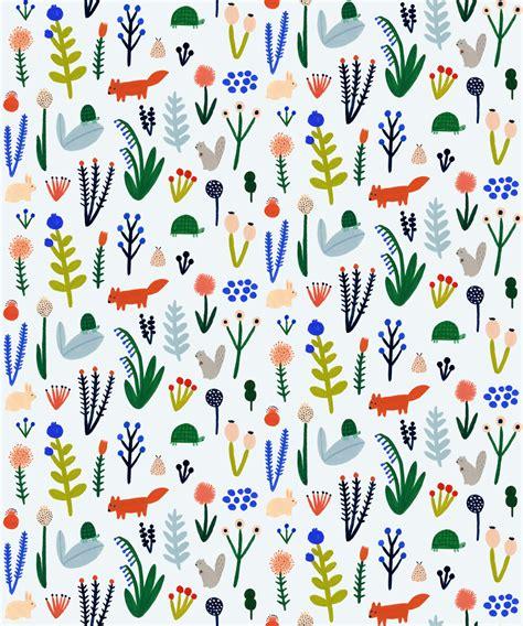Pattern Illustration Tumblr | forest pattern kate pugsley