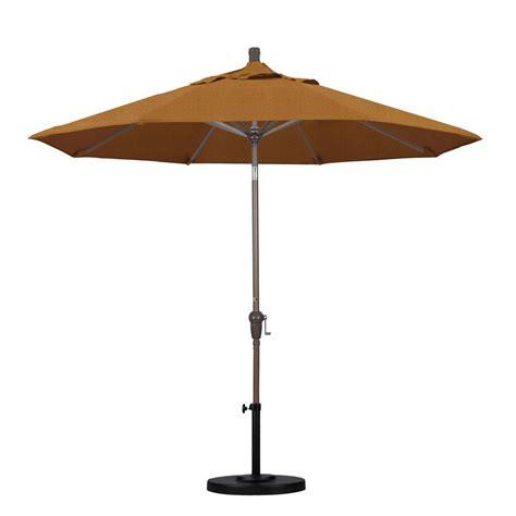 Umbrella Patio Hton Bay 9 Ft Steel Crank And Tilt Patio Umbrella In Ruby Yjauc 171 Ruby The Home Depot