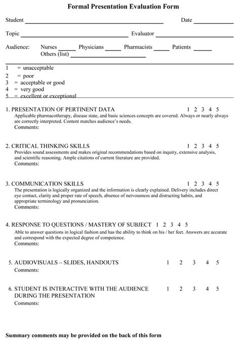 feedback survey template feedback on presentation template presentation feedback