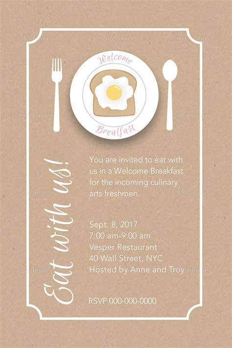 Welcome Invitation Template Freshmen Welcome Breakfast Invitation Design Template In Psd Word Publisher Illustrator Indesign